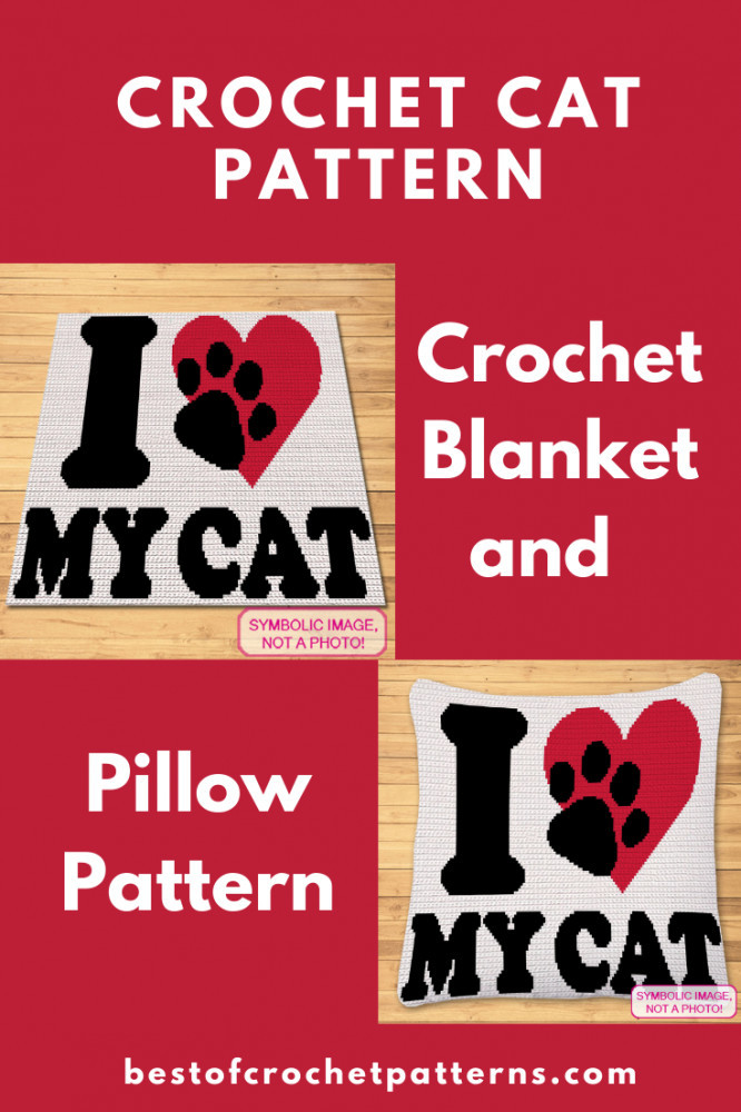 Crochet Cat Blanket and Pillow Pattern - Pretty Things By Katja
