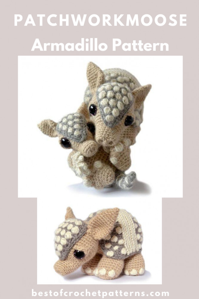 Armadillo Crochet Pattern by PatchworkMoose