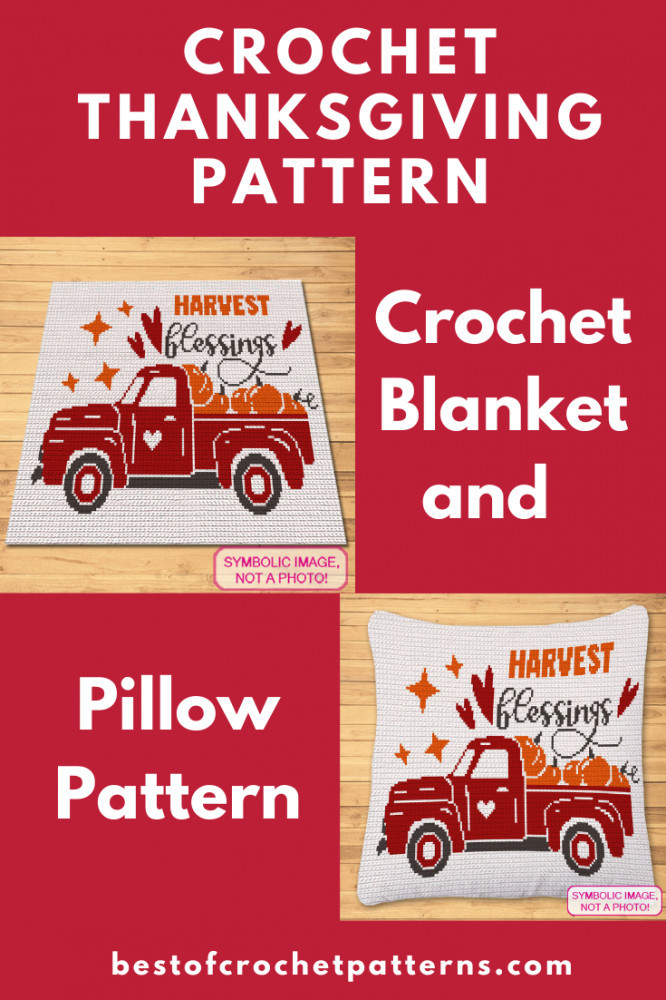 Thanksgiving Crochet Blanket and Pillow Pattern