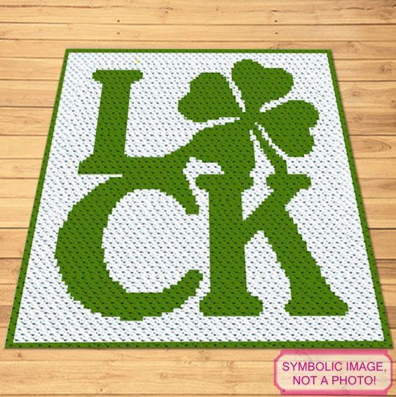 St Patrick C2C Pattern - Crochet Clover Pattern