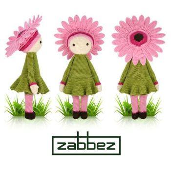 Gerbera Gemma Amigurumi doll pattern