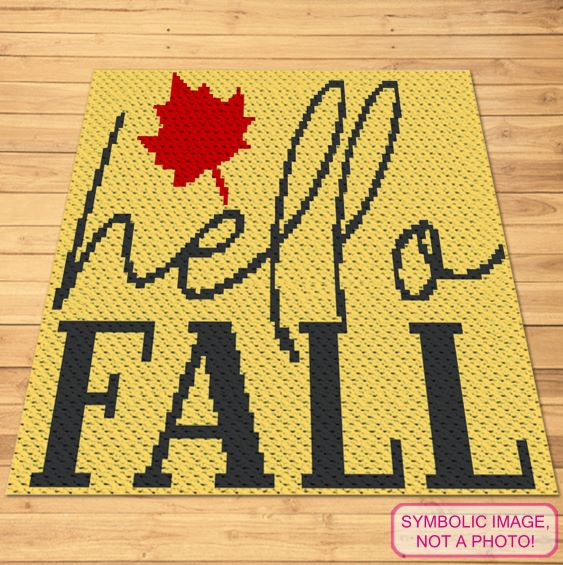 Hello Fall Crochet blanket and pillow pattern