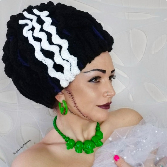 Bride of a Frankenstein Crochet Halloween Pattern