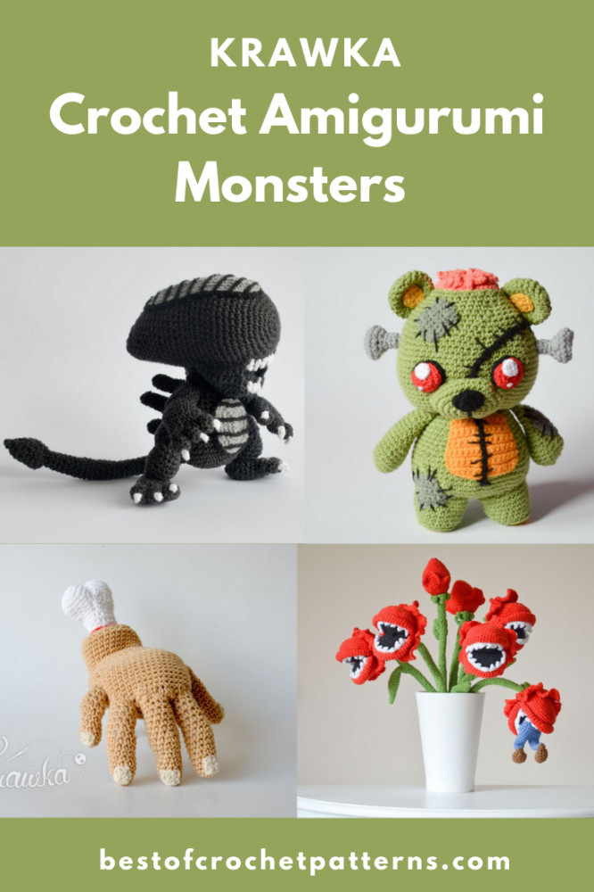 Crochet Amigurumi Monsters Crochet Patterns by Krawka