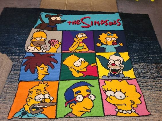 The Simpsons Crochet Blanket Pattern