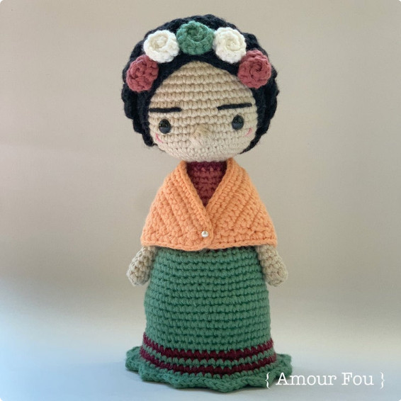 Frida Cahlo Crochet Pattern by Amour Fou