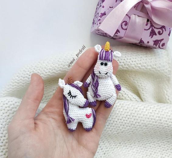 Crochet Unicorn Pattern - Crochet Brooch Pattern