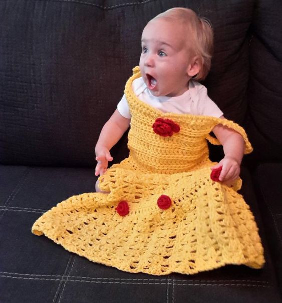 princess dress blanket pattern