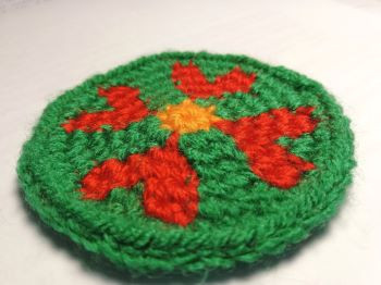 The crochet coaster free pattern