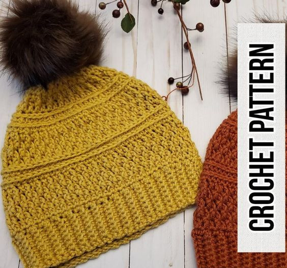Beanie Crochet Pattern CarolHladikDesigns