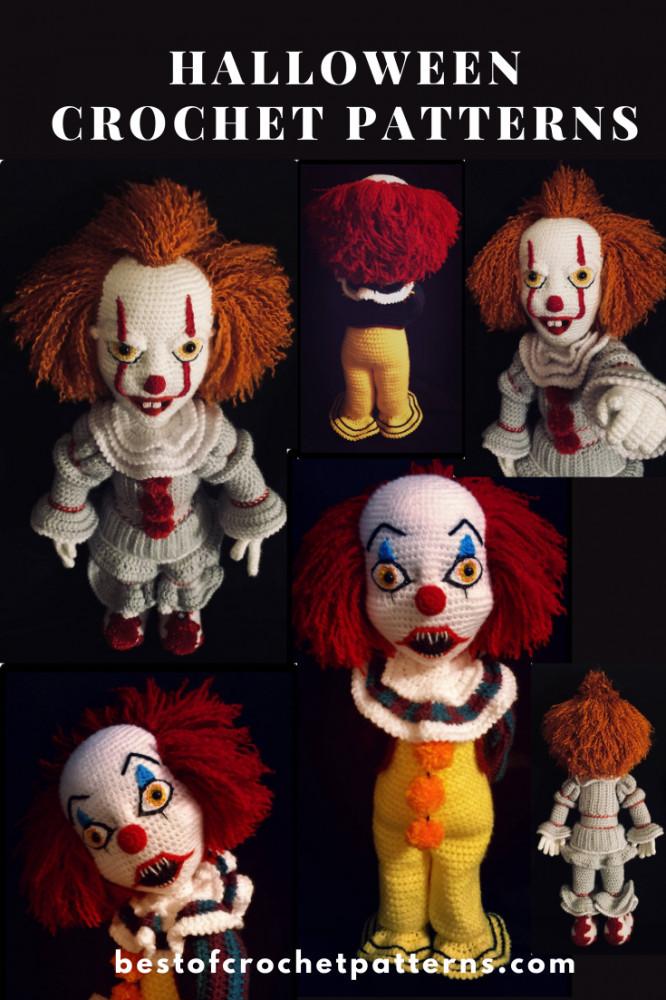 Halloween Crochet Patterns - Scary Clowns