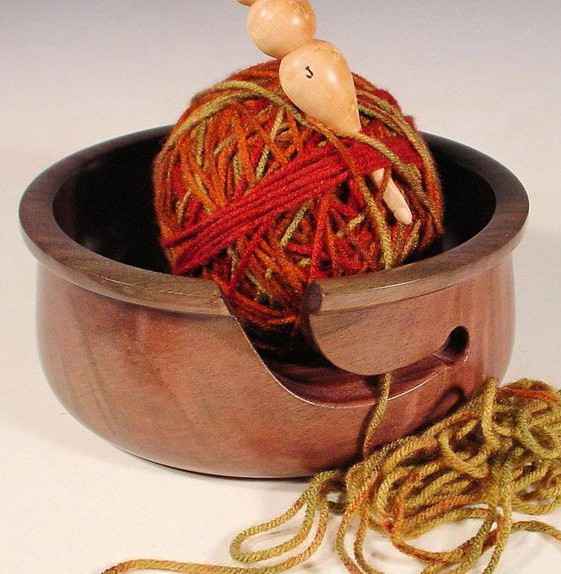 NelsonWood yarn bowl