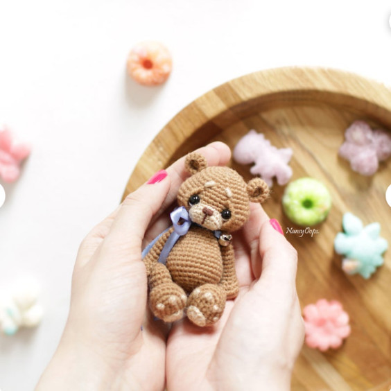Mini Amigurumi Bear Pattern - NansyOops