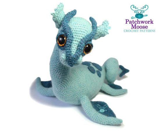 Losh Ness Monster Crochet Pattern by PatchworkMoose