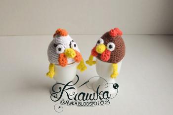 Hen egg cover by Krawka