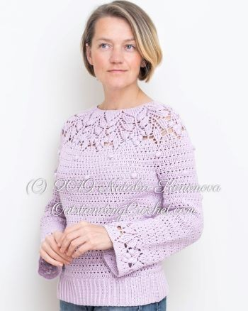 Outstanding Crochet Berries Sweater