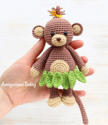 Cuddle me monkey from Amigurumi Today