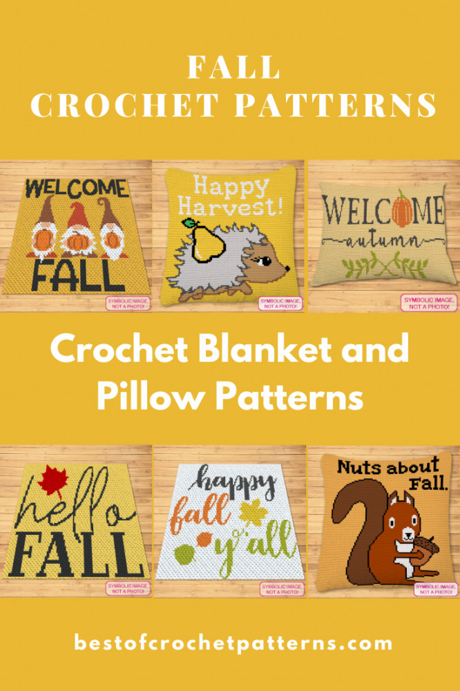 Fall Crochet Patterns - Crochet Blanket and Pillow Patterns by Pretty Things By Katja