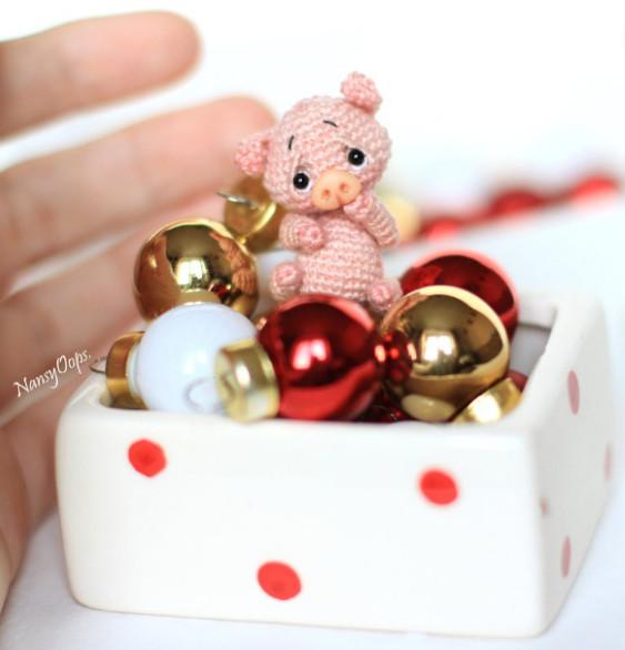 Mini Amigurumi Pig Pattern - NansyOops