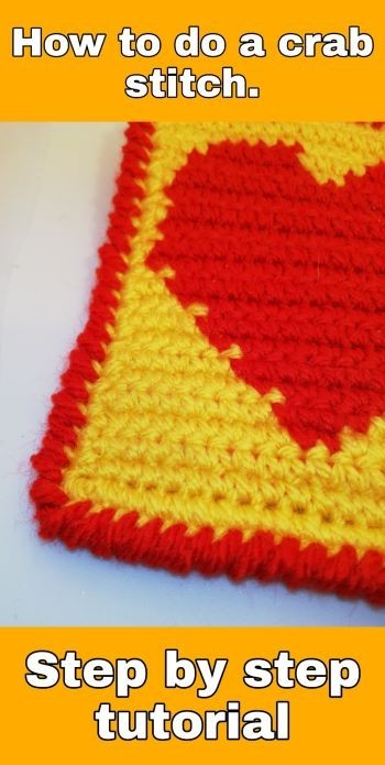 How to crochet a Crab stitch - Step by step tutorial with images