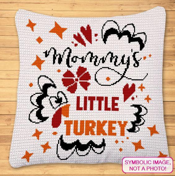 Thanksgiving Crochet Pattern - Crochet Blanket and Pillow Pattern