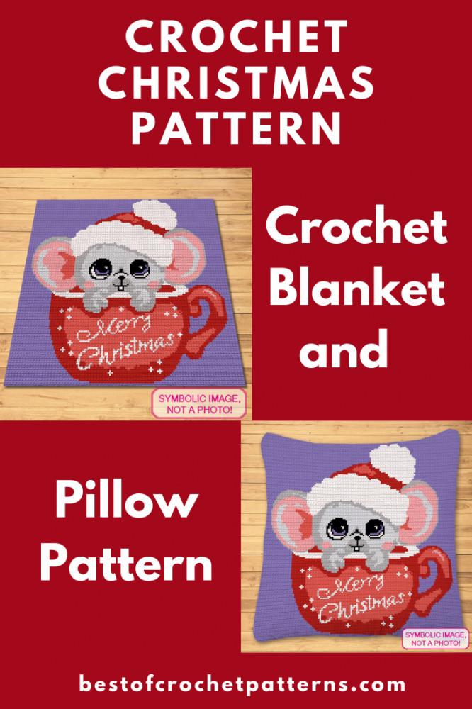 Christmas Crochet Pattern - Christmas Mouse Pattern