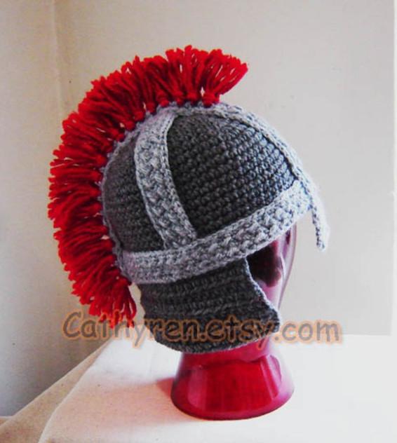Roman Soldier Crochet Helmet Pattern