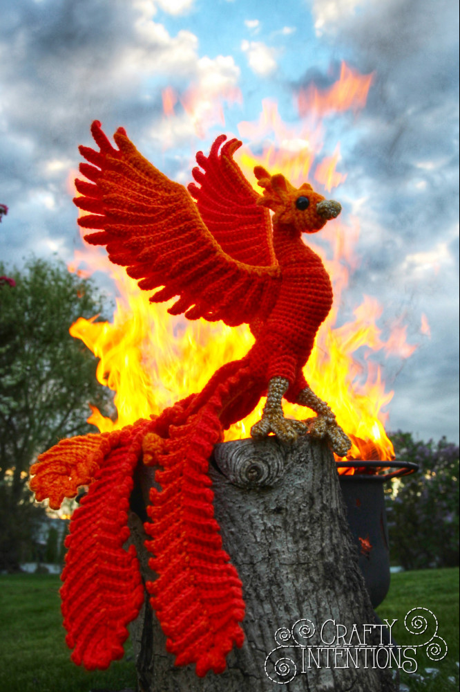 Crochet Fire dragon pattern