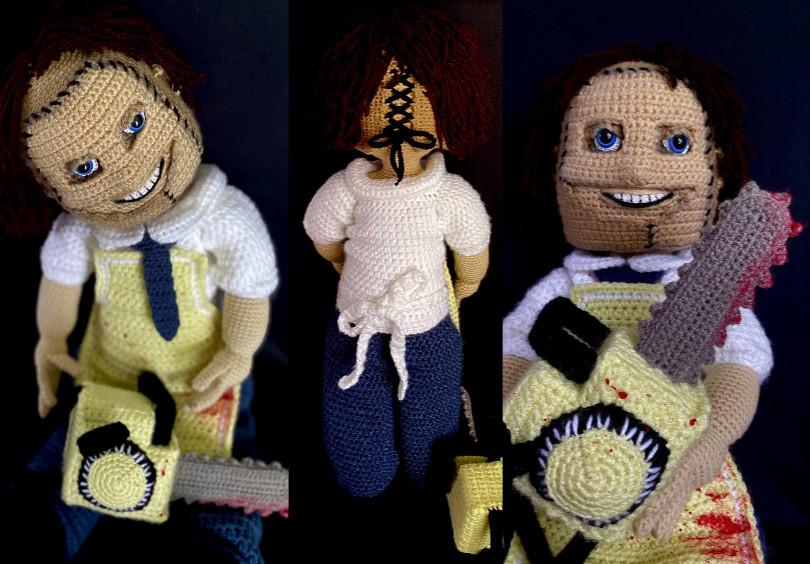 Leatherface Crochet Amigurumi Pattern