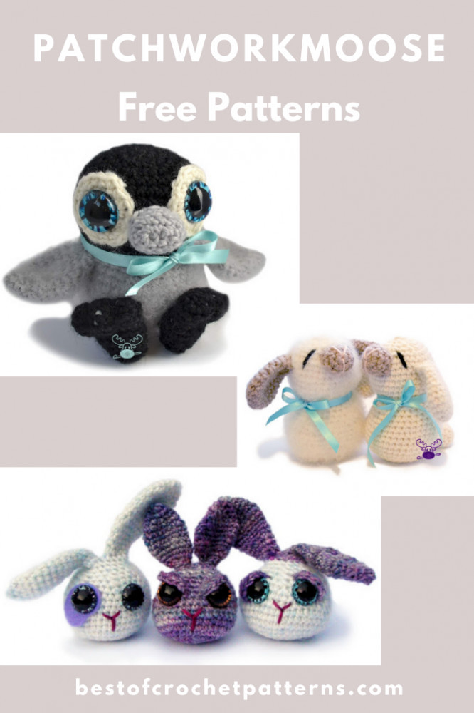 Amigurumi Free Crochet Patterns by PatchworkMoose