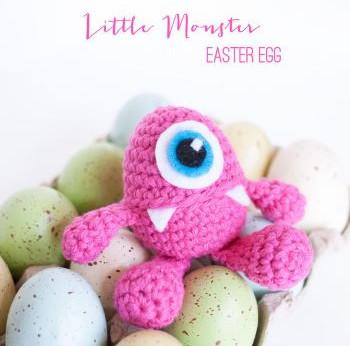 Little monster Easter egg cover by 1dogwoof.com