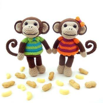 Mavis and Marvin Monkey from mojimojidesign