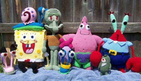 SpongeBob and friends Crochet Patterns Bundle
