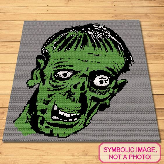 Crochet Zombie Pattern - Halloween blanket and Pillow Pattern