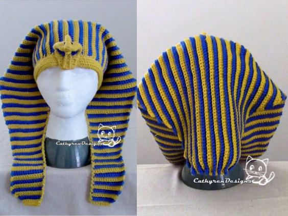 King Tut Headdress Crochet Pattern