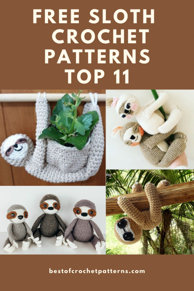Top 11 free crochet sloth patterns - Bestofcrochetpatterns.com