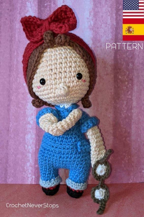 Rosie the Riveter Crochet Pattern - Iconic Woman Crochet Pattern