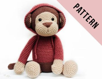 Glamorous monkey amigurumi pattern | Crochet monkey, Crochet ... | 274x350
