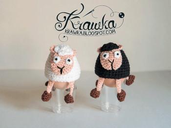Sheeps egg cozy by Krawka