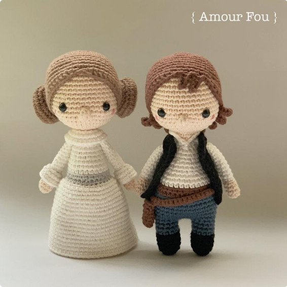 Princess Leia and Han Solo Crochet Pattern by Amour Fou