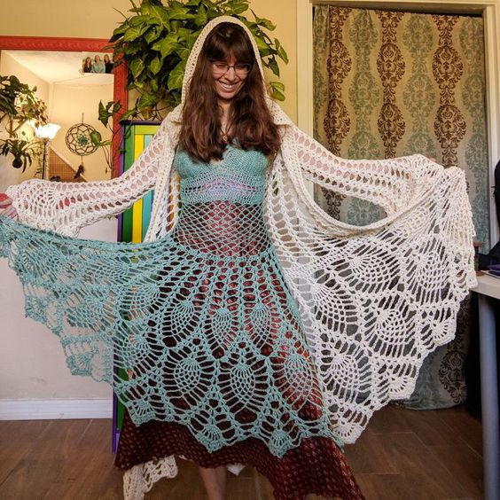 pack fairy queen coat and dress - EarthTrickd Crochet Pattern