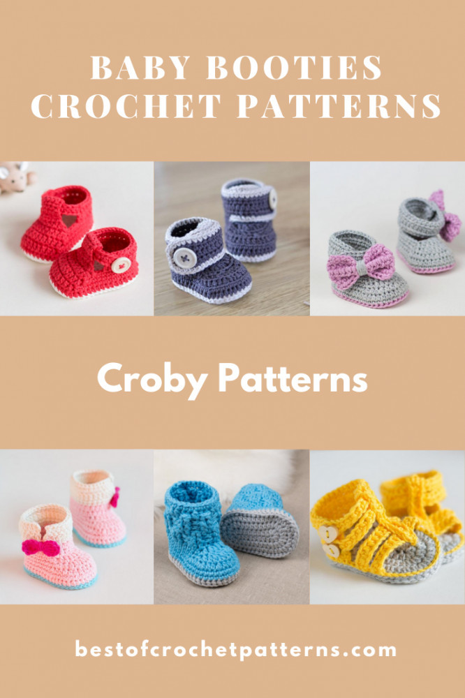 Baby Booties Crochet Patterns - Croby Patterns