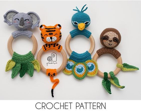 YarnWaveShop crochet rattles bundle