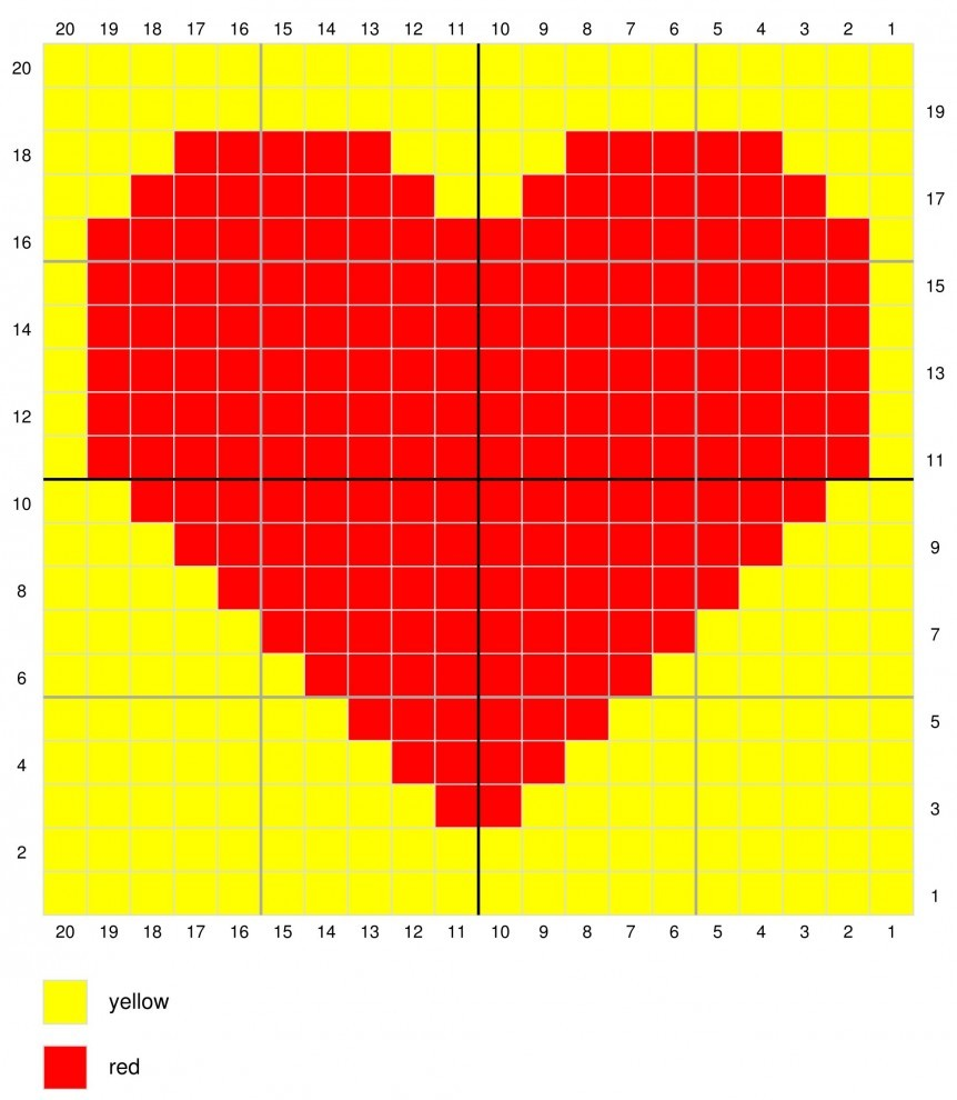 The heart coaster - Tapestry Crochet Free Pattern