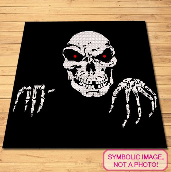 Crochet Skeleton Pattern - Halloween Blanket Pattern