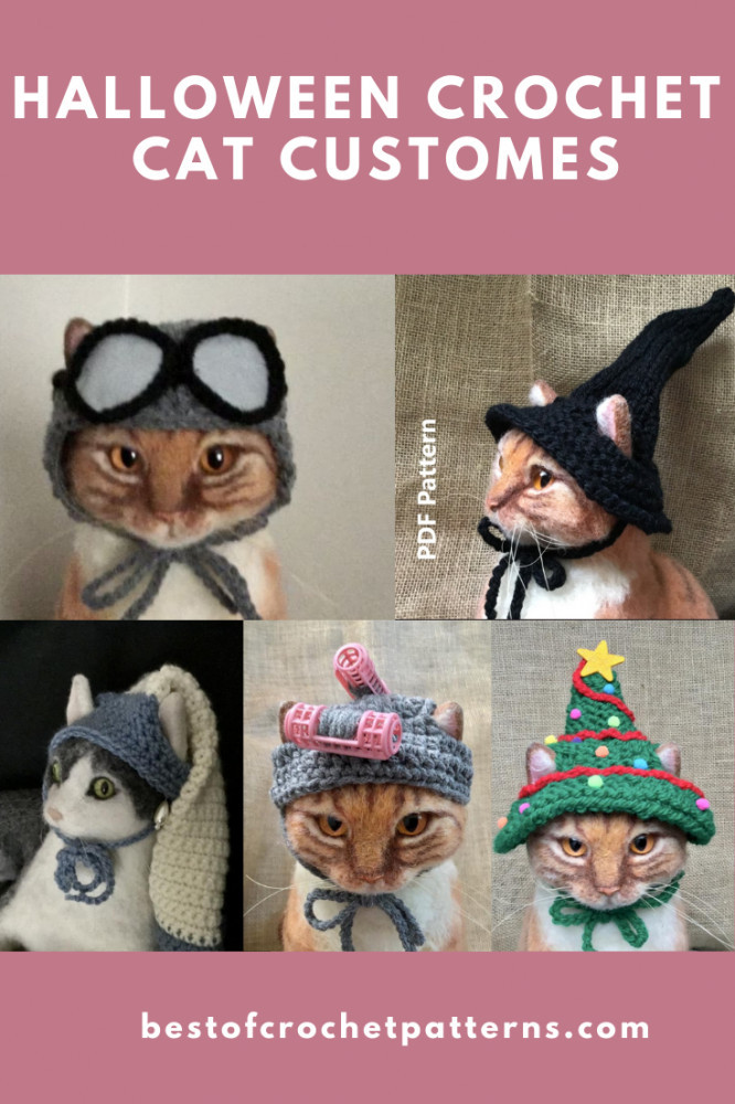 Halloween Crochet Pet Costumes - Crochet Cat Patterns