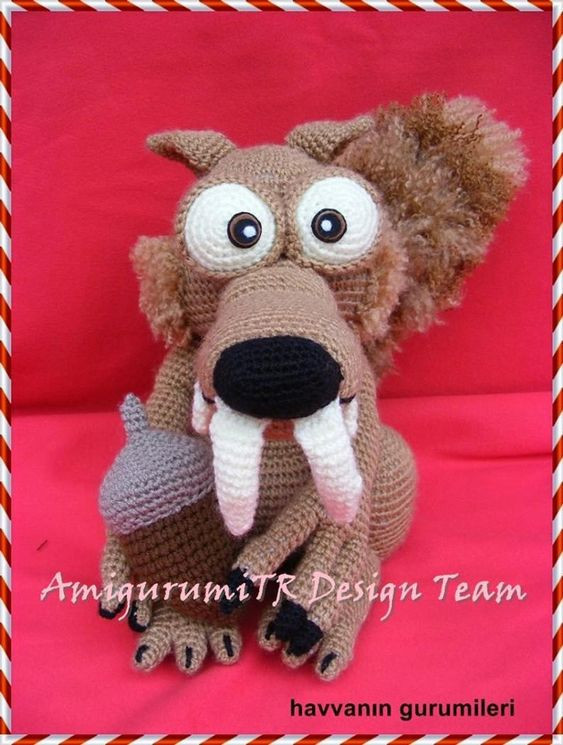 Ice Age Scrat Crochet Pattern by AMIGURUMITRDESIGN