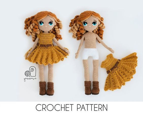 YarnWaveShop amigurumi doll pattern