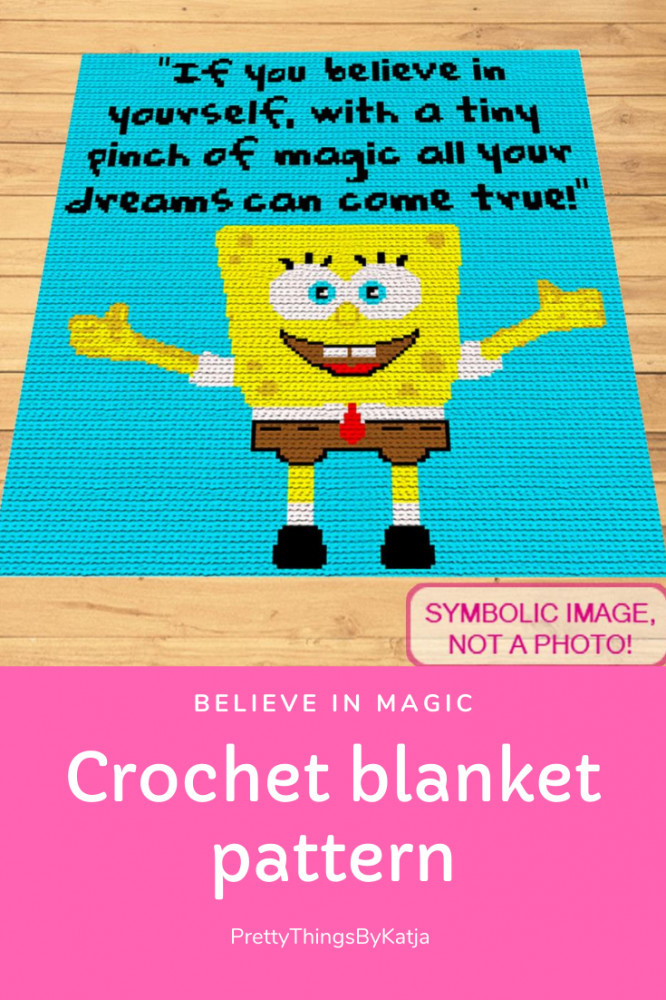 Believe in Yourself - Crochet Blanket Pattern By PrettyThingsByKatja