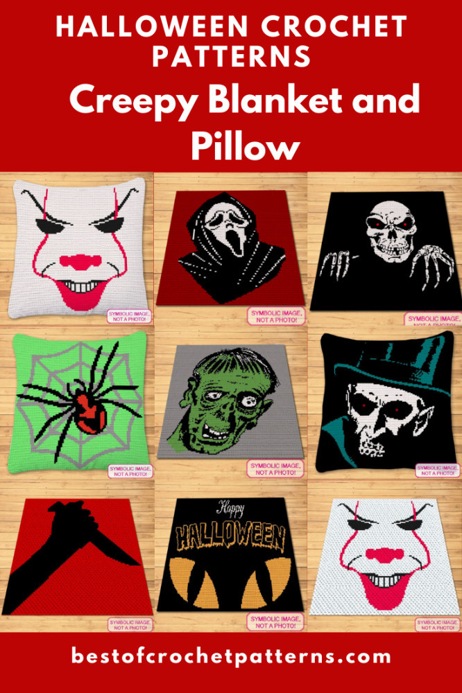 Halloween Crochet - Creepy Blanket and Pillow Patterns